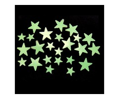 35Pcs Glow In Dark Stars Decal Art Wall Stickers Room Decor