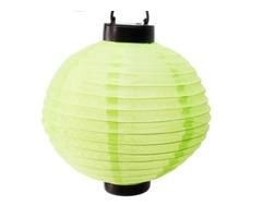 Outdoor Party Lantern Solar Power Light Green
