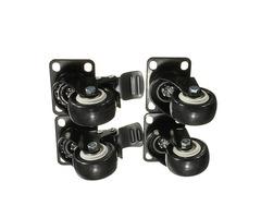 4PCS Heavy Duty PU Swivel Castor Wheels Trolley Furniture Caster