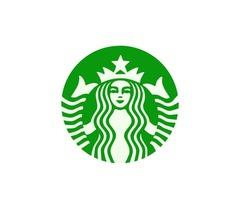 Clear Vinyl Stickers   Starbucks Logo Custom Stickers   Customsticker.com ™