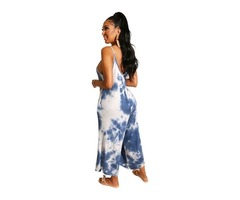 Hot sell sexy women strapless Tie-dyed backless jumpsuit | free-classifieds-usa.com