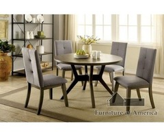 Shop for Abelone Mid-Century Modern Table and 4 Chairs | Rainbow Best Deal