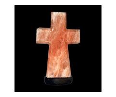 Himalayan Pink Salt Cross Lamp