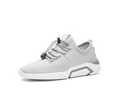 Mesh Plain Elastic Band Mens Breathable Sneakers