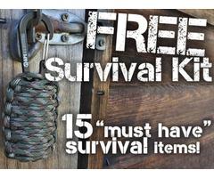FREE Survival Grenade - 15 Essential survival items