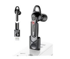 Baseus HiFi Mini Wireless bluetooth Earphone Single USB Magnetic Charging Dock Headphone with Mic