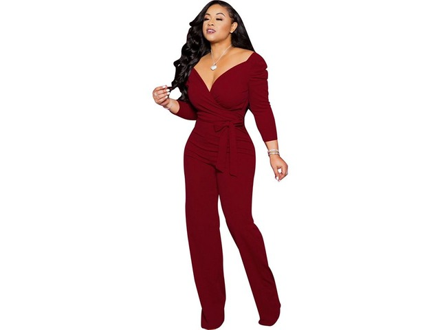 Fashion Rompers Women's Jumpsuit Lady V-neck Jumpsuit 2019  | free-classifieds-usa.com