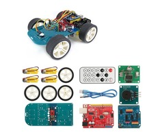 4WD Wireless IR Remote Control Smart Car Arduino Kit for ATmega328P UNO R3 with IR Controller/UNO R3