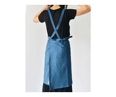 Denim Cowboy Japanese Style Kitchen Cooking Aprons Dress
