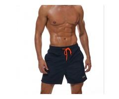 ESCATCH Mens Swimwear Swim Shorts Trunks Beach Board Shorts Swimming Short Pants - Navy  Size M
