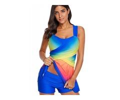 Plus Size Gradient Tankini Set Swimwear