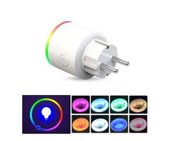 XS-SSA12 AC100-250V 16A EU Electricity Statistics RGB Scene Light Smart Wifi Socket Mobile Phone Tim