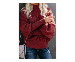 Housewarming cable knit sleeve womens sweater sets women winter sweater mujer
