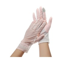 Women Touch Screen Lace Gloves Motorcycle Anti-UV Driving Riding Full Finger