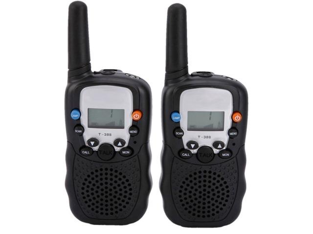 2pcs BELLSOUTH T-388 Handheld 409MHz-410MHz 22-CH Walkie Talkie Interphone Black | free-classifieds-usa.com