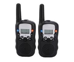 2pcs BELLSOUTH T-388 Handheld 409MHz-410MHz 22-CH Walkie Talkie Interphone Black