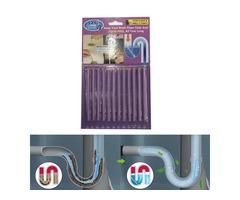12pcs Drain Cleaner Sticks Odor Removal Drains Deodorizer Sticks Sanitarian Sink Clog Remover - Lave