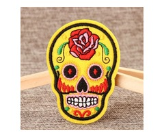 Skeleton Embroidered Patches No Minimum