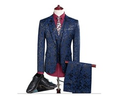 NEW MEN LEISURE SINGLE-BREASTED SUITS 3 PIECES SETS