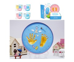 Baby Hand And Foot Print Makers Soft Modeling Inkpad Clay For Newborns DIY Kit Toys Gift
