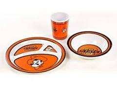 NCAA Oklahoma State Cowboys Kid's 3 Pc. Dish Set