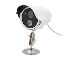 "1/3"" CCD 700TVL 1 LED Array 6mm Lens Night Vision Waterproof Security Camera White"