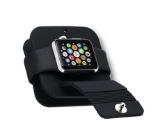 Portable Soft Silicone Charging Bag for Apple Watch Black