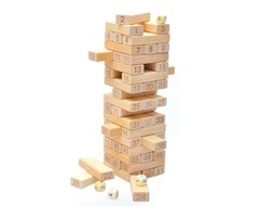 51pcs Educational Toy Rectangle Wooden Blocks