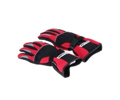 MAD-13 Full-fingered Waterproof Motorcycle Gloves Size XL Black  Red (Pair)