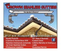 Gutter installation Company Palm Beach County- Crown Seamless Gutters