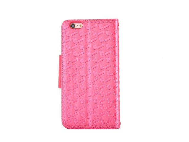 Embossed w/ Butterfly Buckle Combo Leather Case for iPhone 7 Rose Red | free-classifieds-usa.com