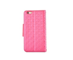 Embossed w/ Butterfly Buckle Combo Leather Case for iPhone 7 Rose Red