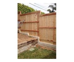 Clear Cedar Wood Fence in Encinitas
