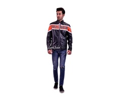 Harley Davidson Victory Lane Mens Leather Jacket for sale