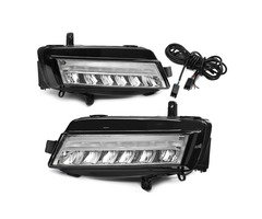 Pair LED DRL Daytime Running Lights Fog Lamp White for VW Golf 7 MK7 2013-2017