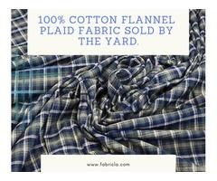 FOUND BEST FLANNEL PLAID FABRIC ONLINE
