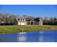 EXECUTIVE HOME on 6.45 ACRES with PRIVATE LAKE Exclusive Gated Community