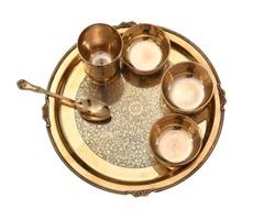 Brass Thali Dinner Set