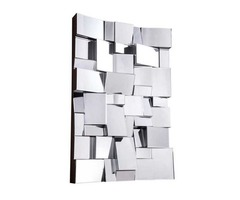 Glens Modern Wall Mirror in Clear