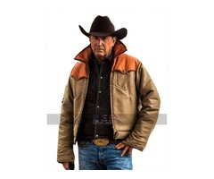 Yellowstone Kevin Costner (John Dutton) Leather Jacket And Vest