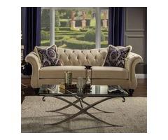 Shop for Antoinette Traditional Sofa Light Mocha Online