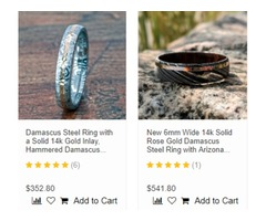 Damascus Steel Wedding Rings