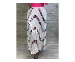 Letter Ankle-Length Print Womens Skirt