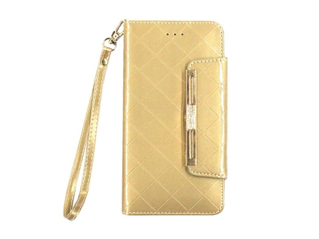 Purse Type Flip Cover PU Leather Phone Case for iPhone 6 Plus/6S Plus Golden | free-classifieds-usa.com
