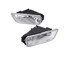Pair Car Front Bumper Fog Lights Assembly with H11 Halogen Bulb Amber for Honda Accord