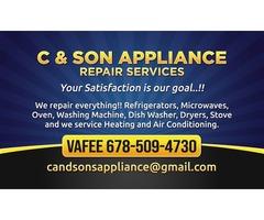 C&SONS HVAC & APPLIANCES REPAIR AND SERVICES