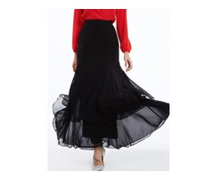 Plain Chiffon Mermaid Womens Skirt