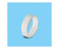W6 Smart Sports Watch Health Wearable Bracelet Pedometer Wristband White