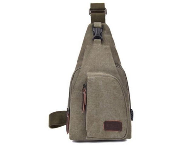 Canvas Sling Backpack Multifunction Sling Shoulder Bag Army Green - L | free-classifieds-usa.com