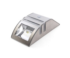 Stainless Steel Solar Power Highlight 2-LED PIR Induction Wall Light with White Lamplight Stainless  | free-classifieds-usa.com